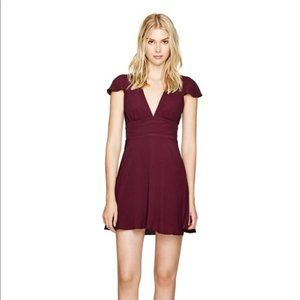 ARITZIA SUNDAY BEST Mauve Cut Out Rand Mini Dress